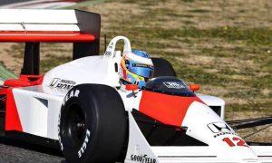 Alonso enjoys Senna's McLaren MP4/4