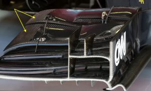 The FIA inflexible on front wing stiffness