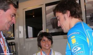 When Carlos met his racing idol