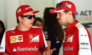 Vettel learning from Raikkonen despite struggles