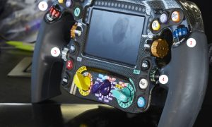 Take a look around Lewis Hamilton's F1 steering wheel