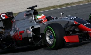 Haas resumes testing with strengthened front wing