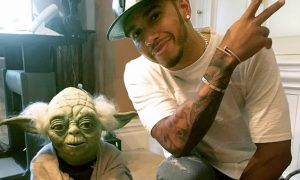 Lewis feels the Force meeting Yoda