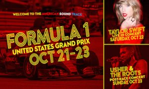 Usher, The Roots join Taylor Swift in USGP festivities