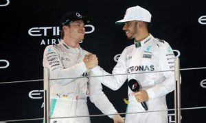 Nico Rosberg and Lewis Hamilton (Mercedes)