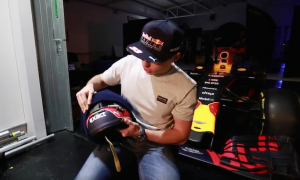 Verstappen unveils 'aggressive' new lid and there's no orange!