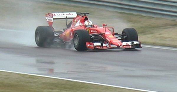 Vettel crashes at Fiorano during Pirelli test day