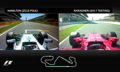 Video: an onboard compare between Ferrari 2017 and Mercedes 2016