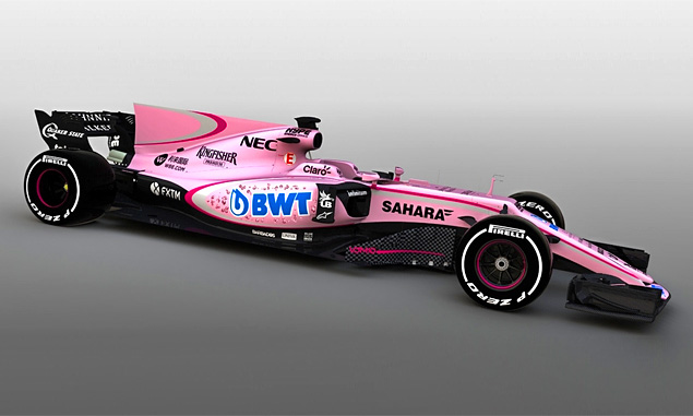 Force India goes pink after signing new partner