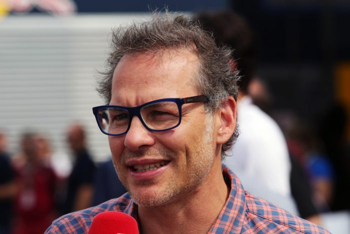 Former world champion Jacques Villeneuve at the Italian Grand Prix