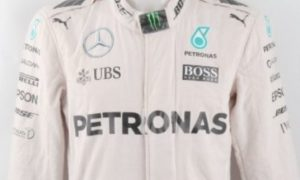 Rosberg's overalls fetch a lumpy price for charity!