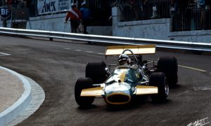 Brabham loses it at the last corner