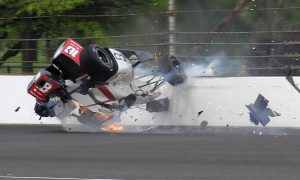 Bourdais injured in massive crash at Indy