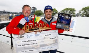 Fastest Indy 500 rookie gets his check