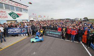 Monger praises 'inspirational support' from motorsport family