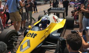 Prost and Jabouille enjoy Renault demo run