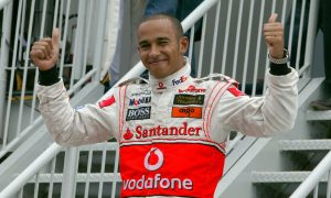 Lewis Hamilton's maiden F1 win