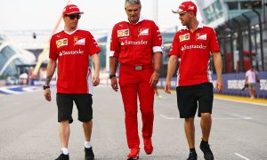 No contract talks at Ferrari... yet.