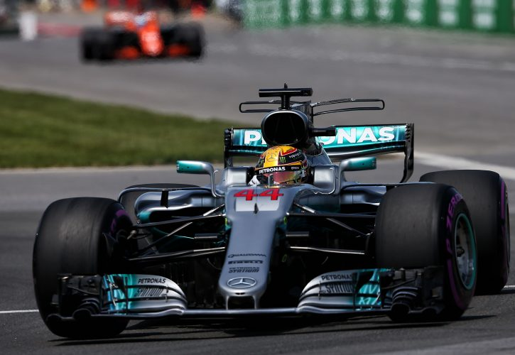 Hamilton wins in Canada for sixth time
