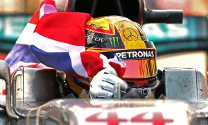 Hamilton 'super happy' to be back on top
