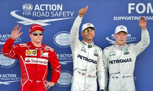 Hamilton beats Bottas to pole position in Baku