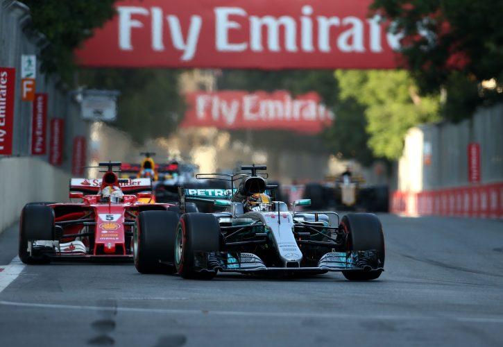 Lewis Hamilton accuses Sebastian Vettel of disgracing himself in Azerbaijan Grand Prix