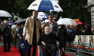 Sir Frank attends Williams movie premiere in London