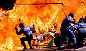 Verstappen feels the heat!