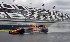 Stoffel Vandoorne - wet weather testing at Magny Cours