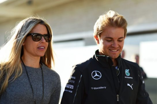 Nico Rosberg with wife Vivian