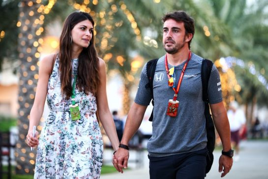 Fernando Alonso and Linda Morselli