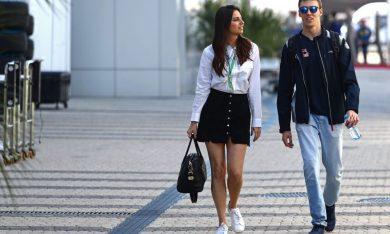 Dany Kvyat and Kelly Piquet