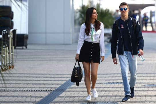 Dany Kvyat and Kelly Piquet