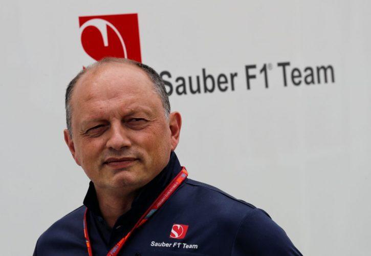 Sauber team principal Frederic Vasseur
