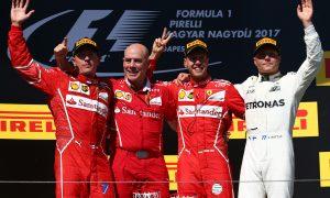 Hungarian GP podium pictures