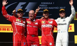 Hungarian GP podium pictures