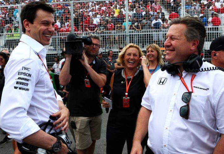 McLaren-Mercedes-Zak Brown-Toto Wolff