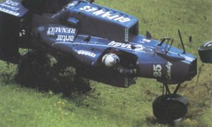 One write-off too many for de Cesaris and Ligier