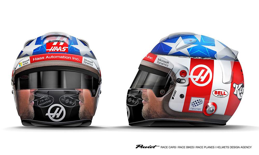 Romain Grosjean, Renault, helmet, United States Grand Prix