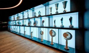 Mercedes trophy cabinet, Brackley