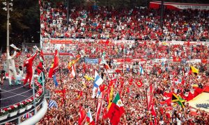 Rosberg swamped in red for a first at Monza