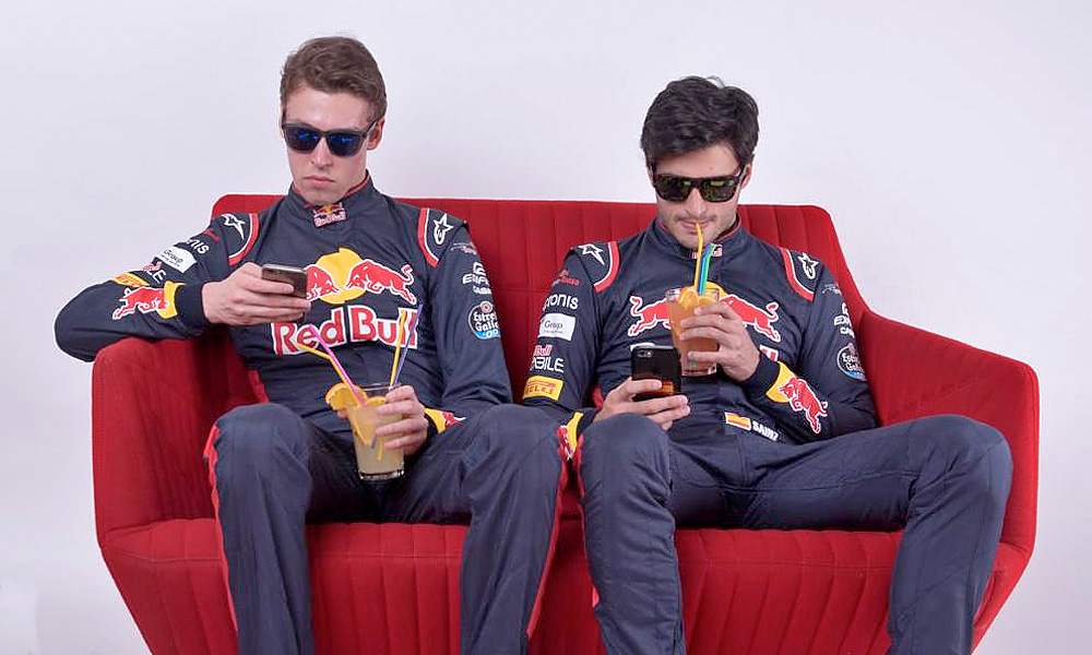 Toro Rosso drivers Daniil Kvyat and Carlos Sainz contemplate the 2017 summer shutdown.