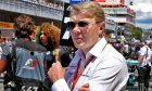 Mika Hakkinen on the grid at the Spanish Grand Prix