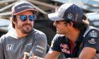 Fernando Alonso (McLaren) and Carlos Sainz (Toro Rosso)