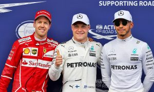 Sebastian Vettel, Valtteri Bottas, Lewis Hamilton vying for the 2017 world championship