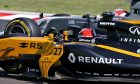 Nico Hulkenberg (Renault), Kevin Magnussen (Haas F1) clash in the Hungarian Grand Prix