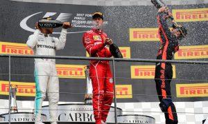 Belgian GP podium pictures