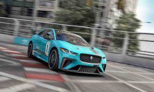 Jaguar's five-seat I-PACE electric SUV sports car.