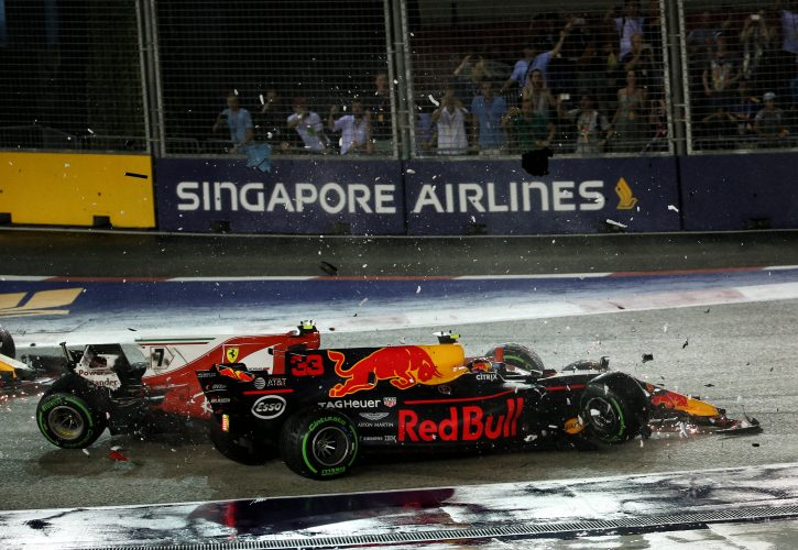 Max Verstappen blames Sebastian Vettel for start crash