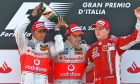 Look back: the podium of the 2007 Italian Grand Prix, September 9.